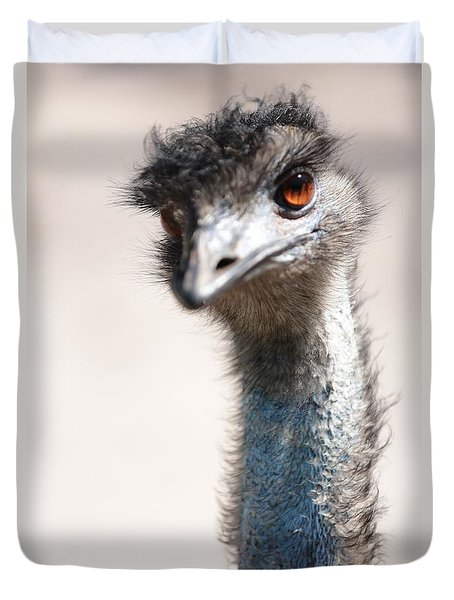 Curious Emu Duvet Cover by Carol Groenen