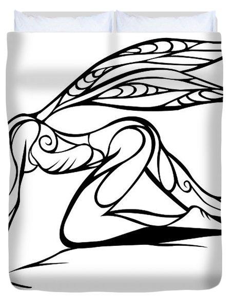 Curious Fairy 1 Duvet Cover by Jamie Lynn