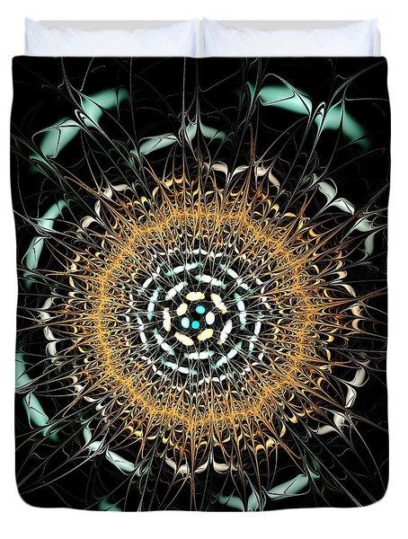 Curious Moth Duvet Cover by Anastasiya Malakhova