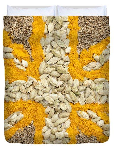 Curried Flag Duvet Cover by Anne Gilbert