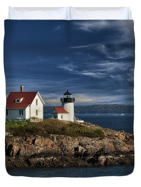 Curtis Island Lighthouse Maine Img 5988 Duvet Cover