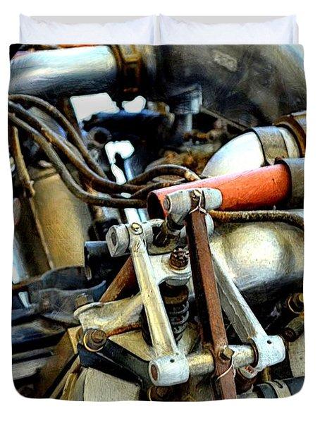 Curtiss Ox-5 Airplane Engine Duvet Cover