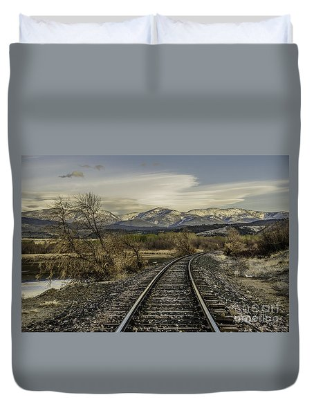 Curve In The Tracks Duvet Cover
