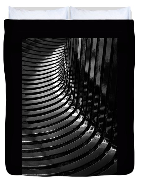 Duvet Cover featuring the photograph Curved by Wendy Wilton