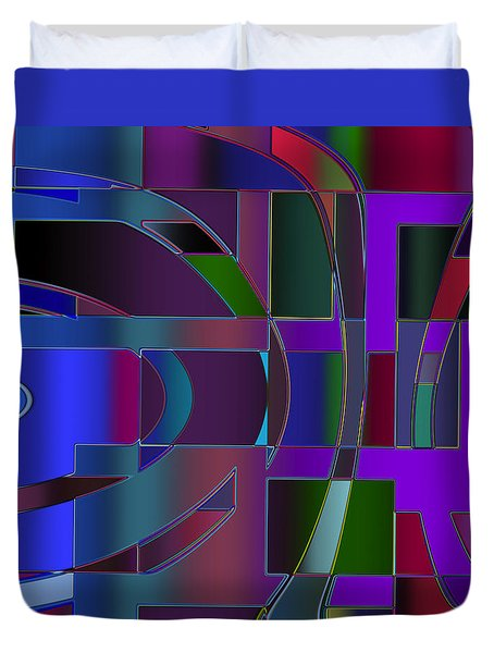 Curves And Trapezoids 2 Duvet Cover by Judi Suni Hall