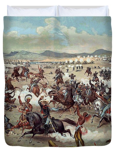 Custer's Last Charge Duvet Cover by Unknown
