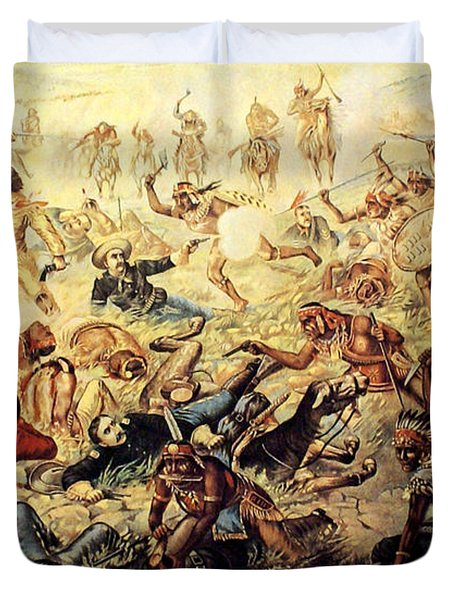 Custer's Last Fight Detail Duvet Cover by Unknown