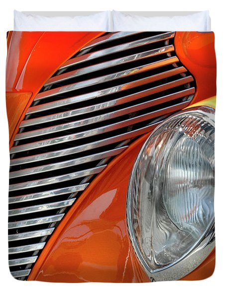 Duvet Cover featuring the photograph Custom Car Detail by Dave Mills