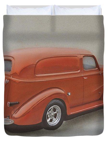 Custom Delivery Truck Duvet Cover by Paul Kuras