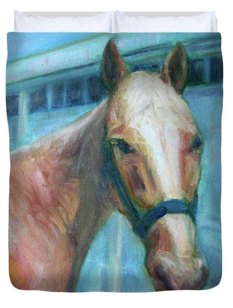 Custom Pet Portrait Painting - Original Artwork -  Horse - Dog - Cat - Bird Duvet Cover