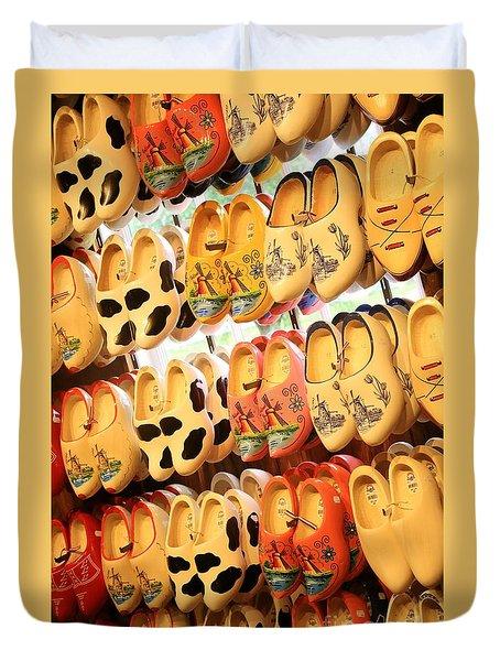 Cute Clogs Duvet Cover by Carol Groenen