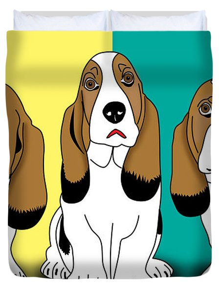 Cute Dogs  Duvet Cover by Mark Ashkenazi