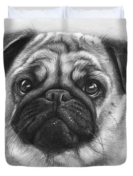 Cute Pug Duvet Cover