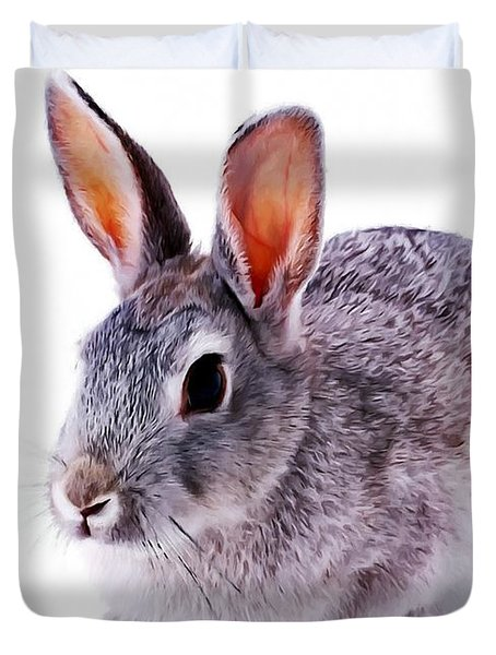 Cute Rabbit Duvet Cover by Lanjee Chee