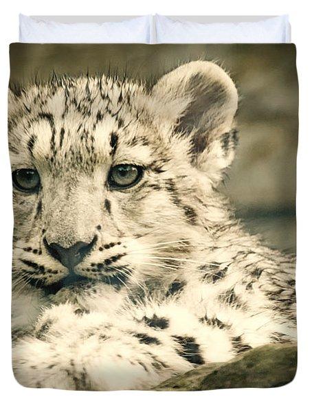 Cute Snow Cub Duvet Cover
