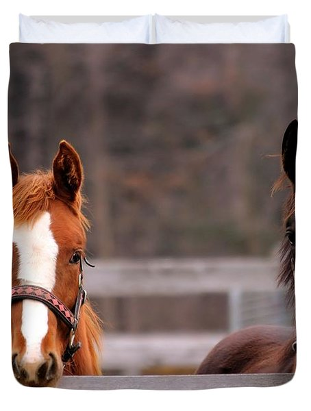 Cute Yearlings Duvet Cover