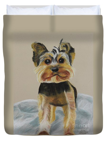Cute Yorkie Duvet Cover