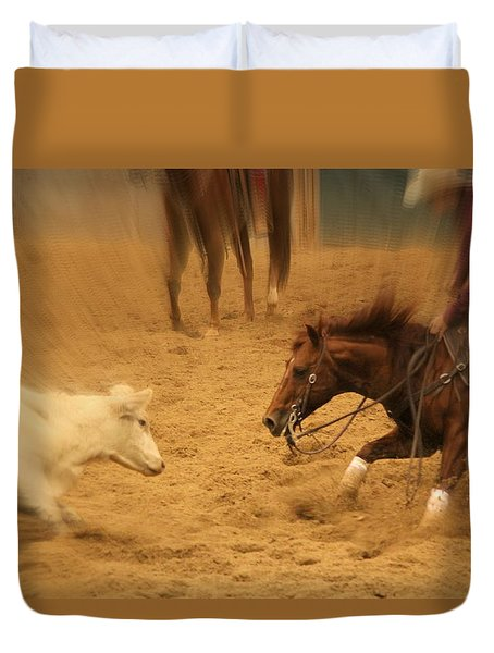Cutting Horse 8 Duvet Cover