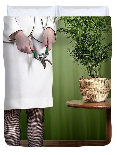 Cutting Plant Duvet Cover by Joana Kruse