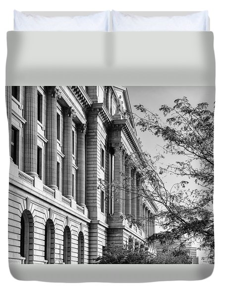 Cuyahoga County Court House Duvet Cover