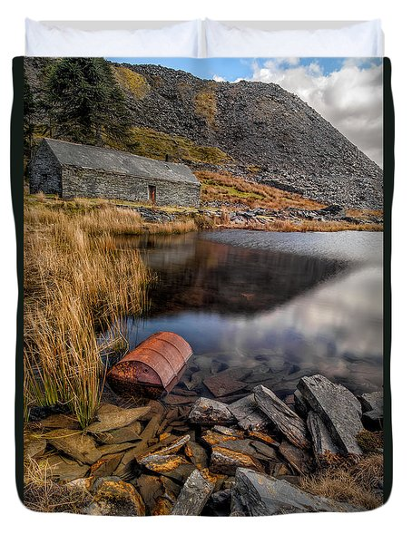 Cwmorthin Slate Quarry Duvet Cover by Adrian Evans