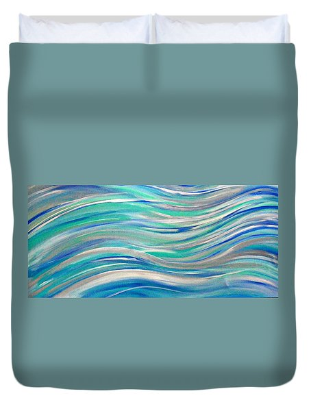 Duvet Cover featuring the painting Cy Lantyca 1 by Cyryn Fyrcyd