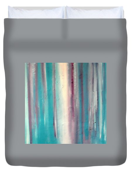 Duvet Cover featuring the painting Cy Lantyca 10 by Cyryn Fyrcyd