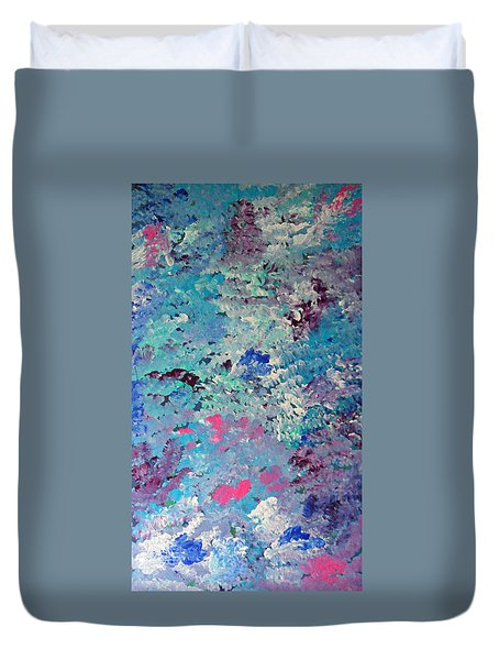 Duvet Cover featuring the painting Cy Lantyca 5 by Cyryn Fyrcyd