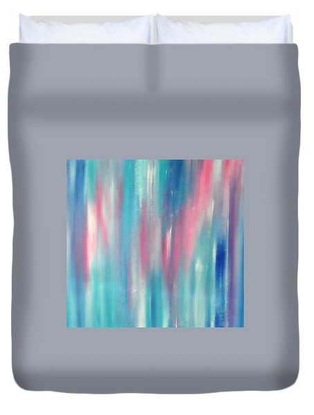 Duvet Cover featuring the painting Cy Lantyca 7 by Cyryn Fyrcyd