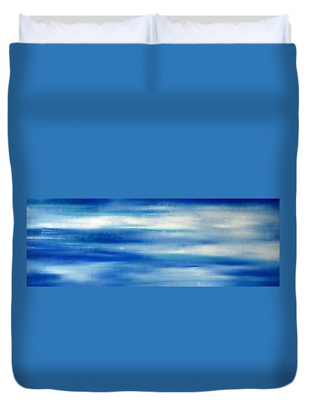 Duvet Cover featuring the painting Cy Lantyca 8 by Cyryn Fyrcyd