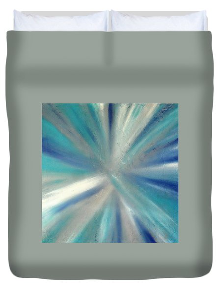 Duvet Cover featuring the painting Cy Lantyca 9 by Cyryn Fyrcyd