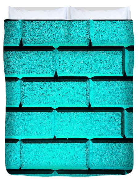 Cyan Wall Duvet Cover by Semmick Photo