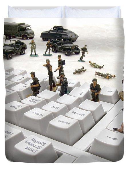 Cyber Attack Duvet Cover