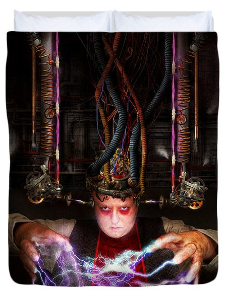 Cyberpunk - Mad Skills Duvet Cover by Mike Savad