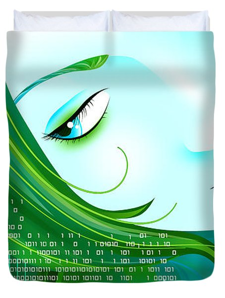 Cyberpunk Duvet Cover by Sandra Hoefer