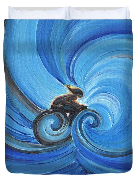 Cycle By Jrr Duvet Cover by First Star Art