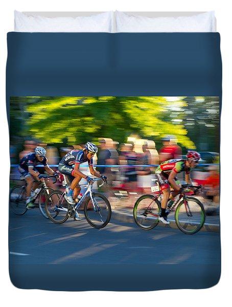 Cycling Pursuit Duvet Cover