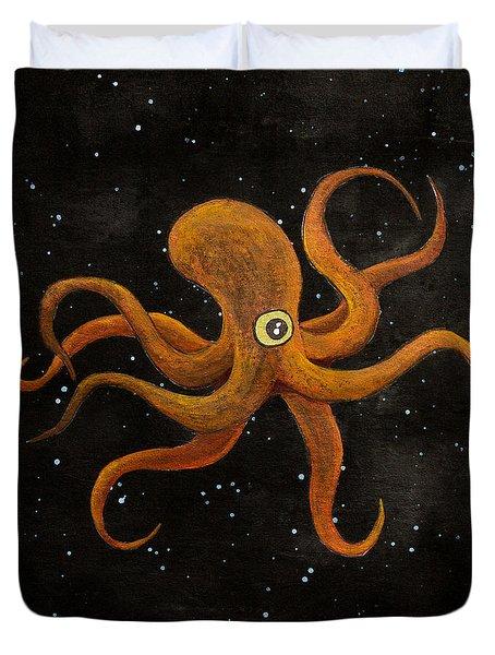 Cycloptopus Black Duvet Cover