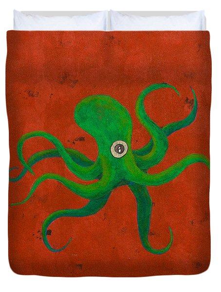 Cycloptopus Red Duvet Cover
