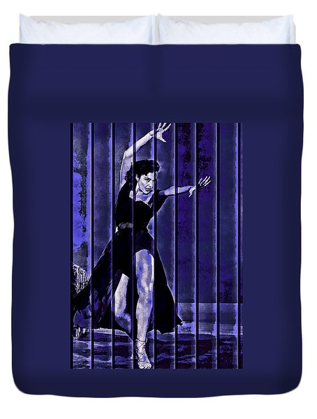 Cyd Charisse Blues II Duvet Cover