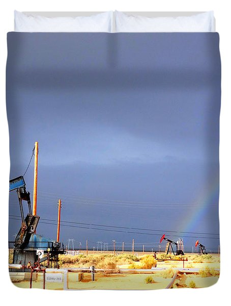 Cymric Field Rainbow Duvet Cover