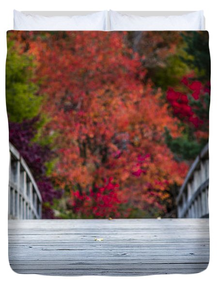 Duvet Cover featuring the photograph Cypress Bridge by Sebastian Musial