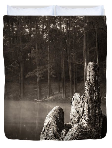 Cypress Knees In Sepia Duvet Cover