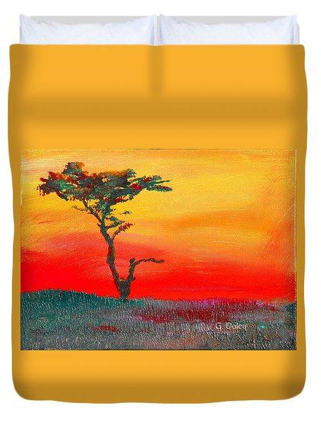 Cypress Sunrise Duvet Cover