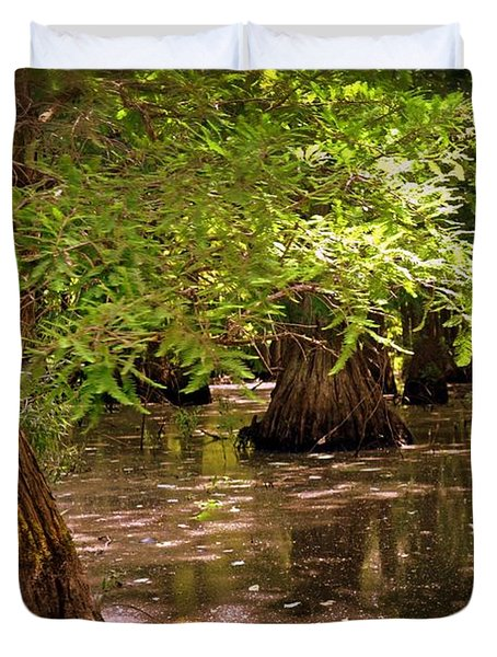 Cypress Swamp Duvet Cover by Marty Koch