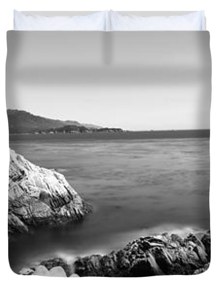 Cypress Tree At The Coast, The Lone Duvet Cover