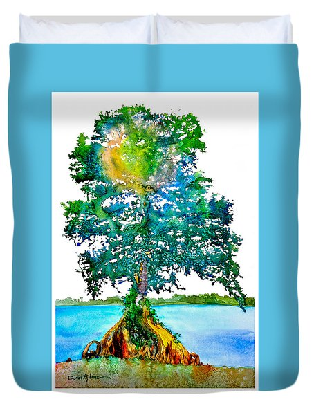 Da107 Cypress Tree Daniel Adams Duvet Cover