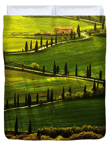 Cypresses Alley Duvet Cover
