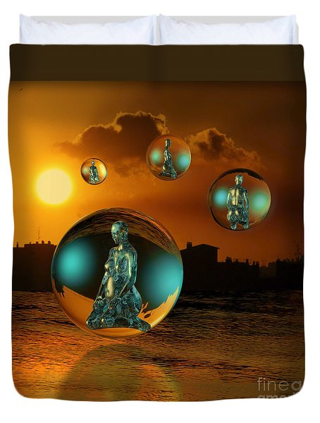 Cyrstal Children Of Sun Duvet Cover by Rosa Cobos