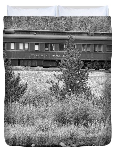 Cyrus K  Holliday Private Rail Car Bw Duvet Cover by James BO  Insogna